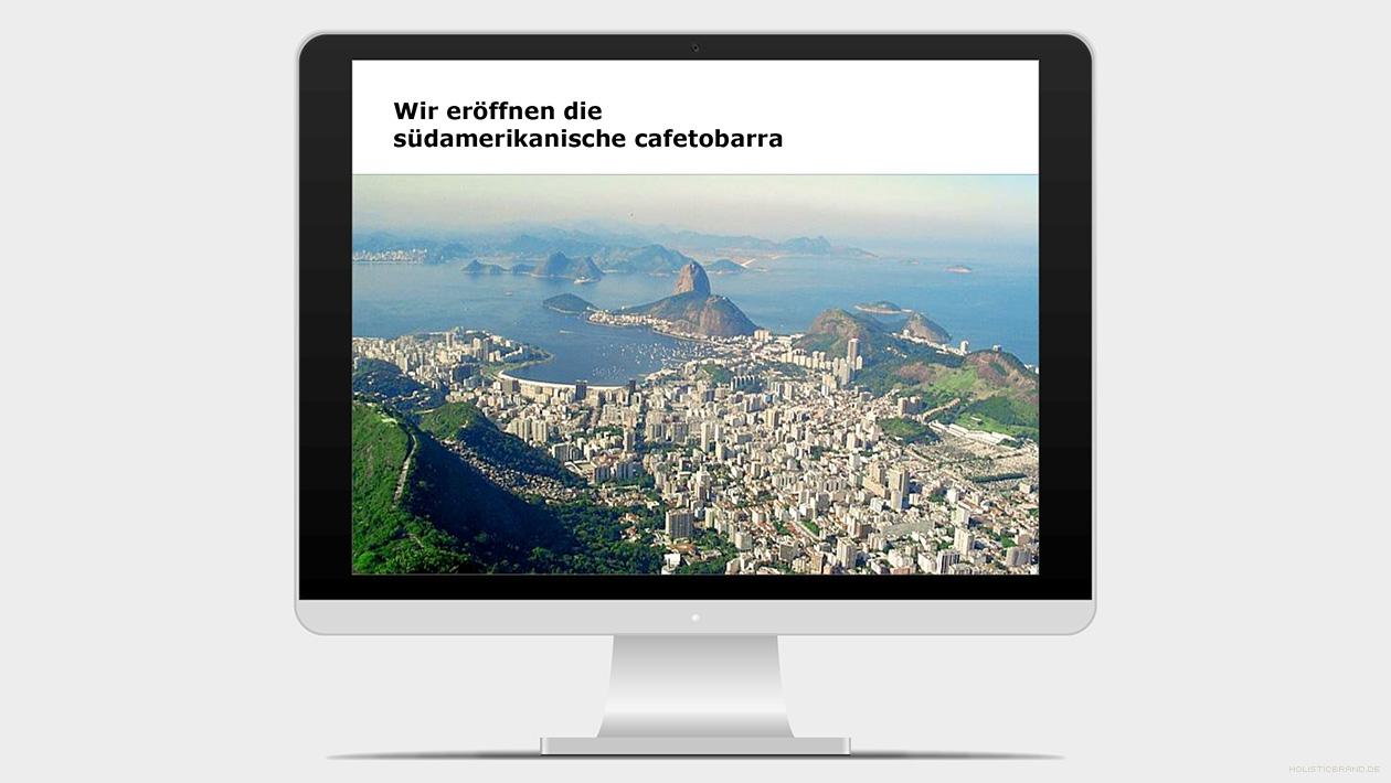 Screenshot aus einer Präsentation mit einem Bild von Rio de Janeiro