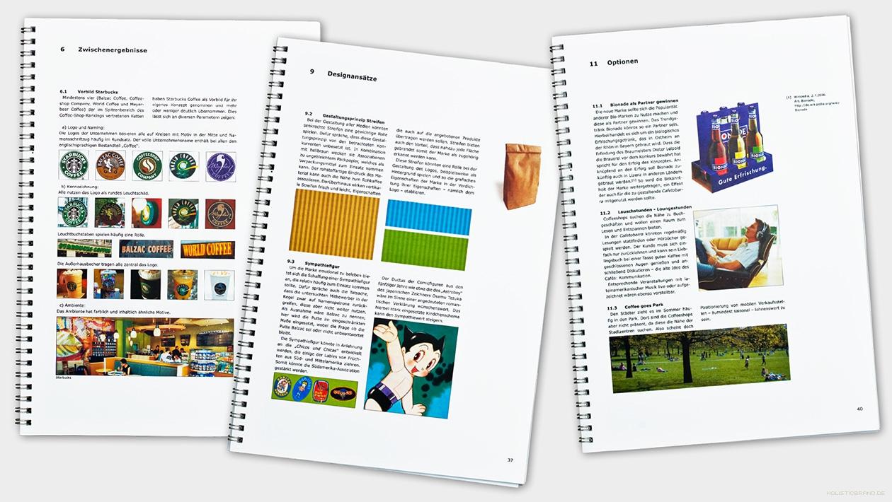 Drei Seitenauszüge aus einem Ergebnisbooklet