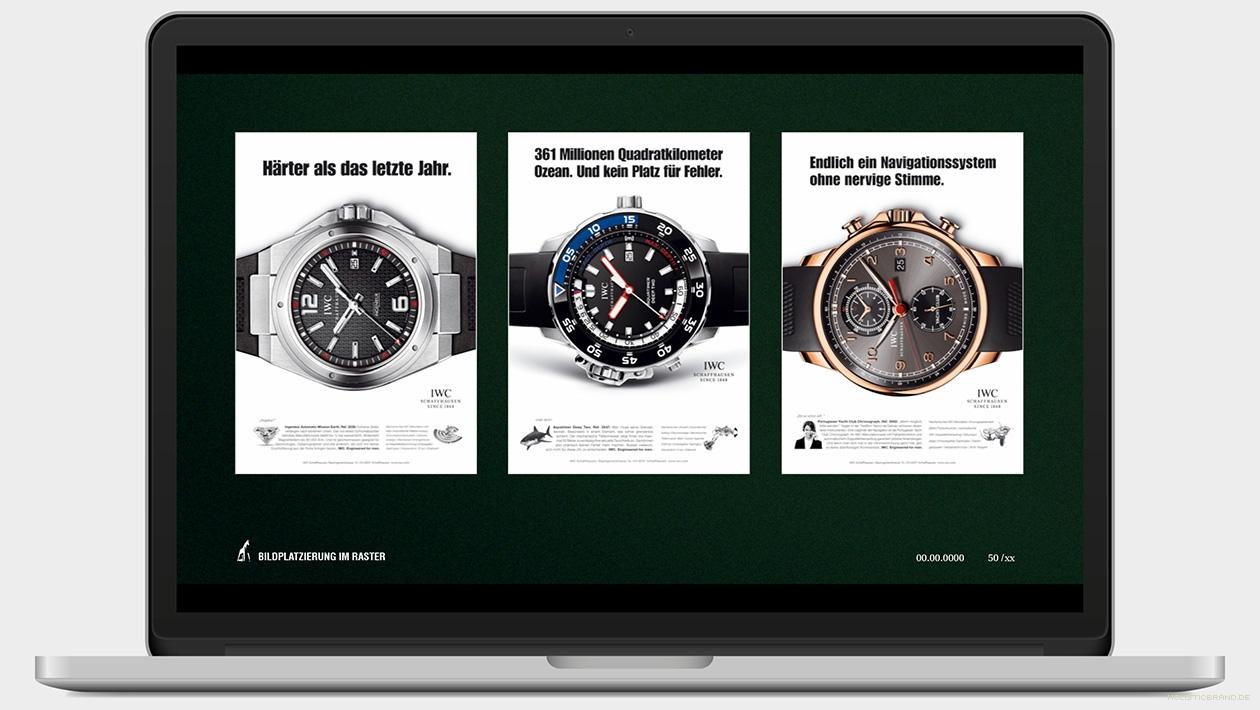 Screenshot aus einer Präsentation mit drei Beispiellayouts