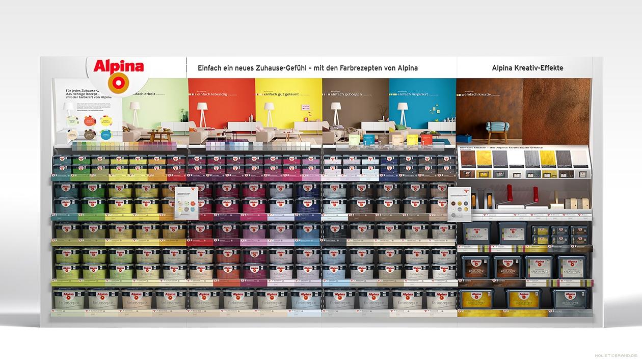 Computerrendering eines Verkaufsregals für den Einzelhandel