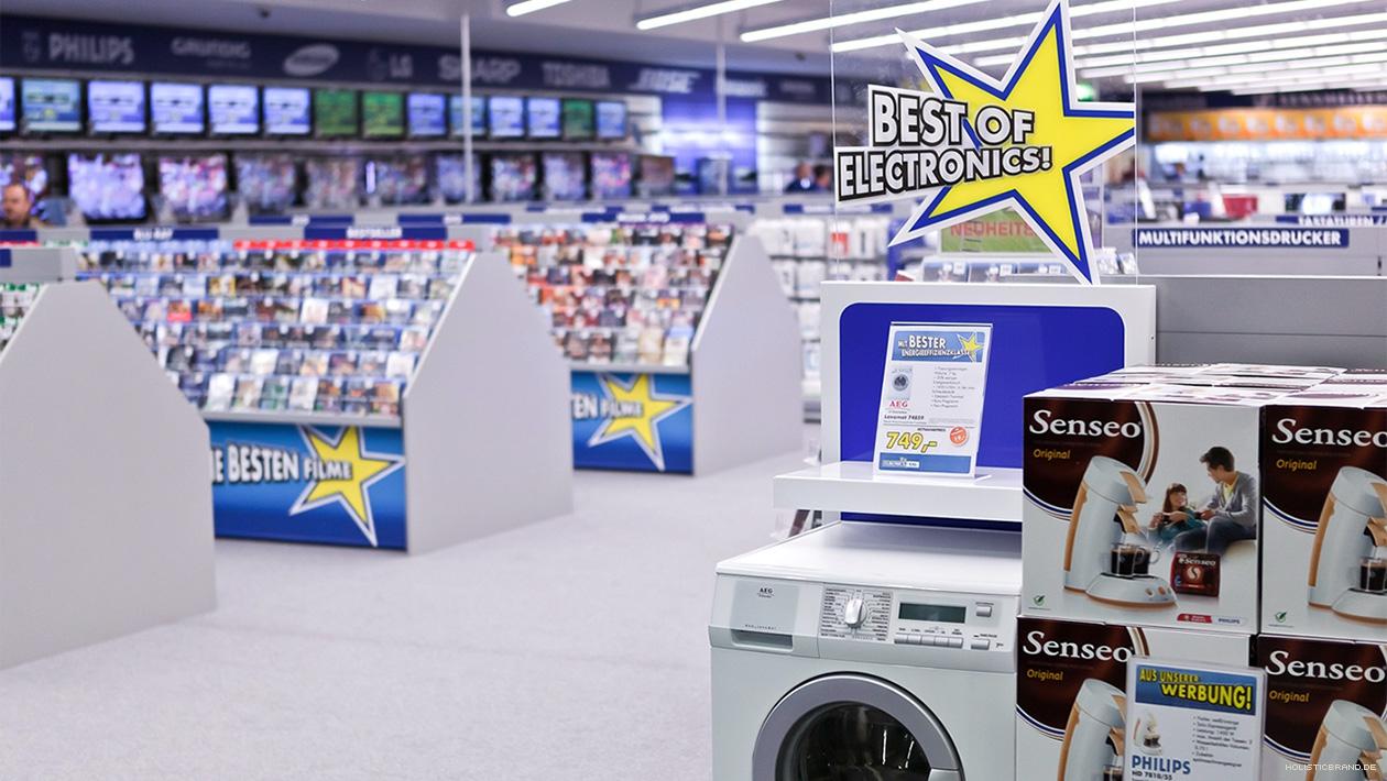 Fotografie einer hervorgehobenen Produktpräsentation im Point of Sale