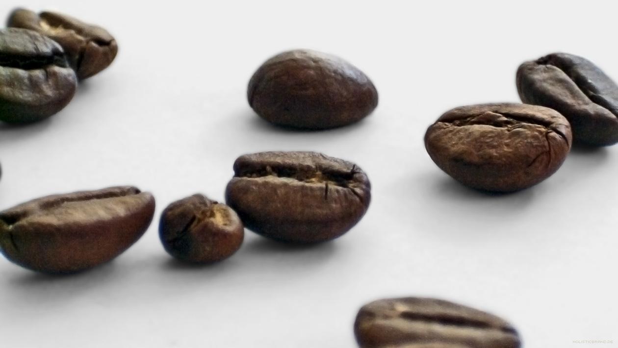 Kaffeebohnen in Nahaufnahme